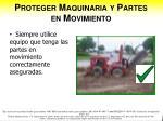 proteger maquinaria y partes en movimiento