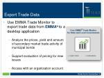 export trade data