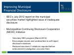 improving municipal financial disclosure