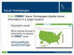 issuer homepages