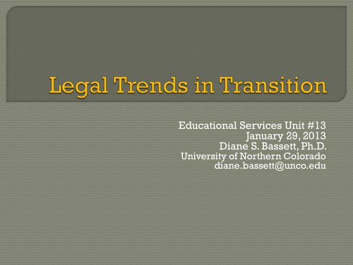 legal trends in transition n.
