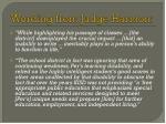 wording from judge harmon