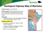 geological highway map of manitoba