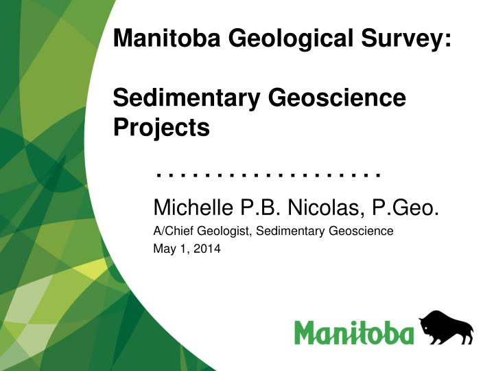 manitoba geological survey sedimentary geoscience projects n.