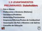 1 3 levantamentos preliminares stakeholders