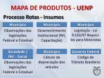 mapa de produtos uenp