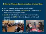 behavior change communication intervention