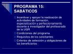 programa 15 sab ticos
