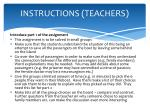 instructions teachers