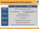 propuesta general de instrumentos