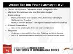 african tick bite fever summary 1 of 2