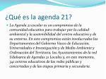 qu es la agenda 21