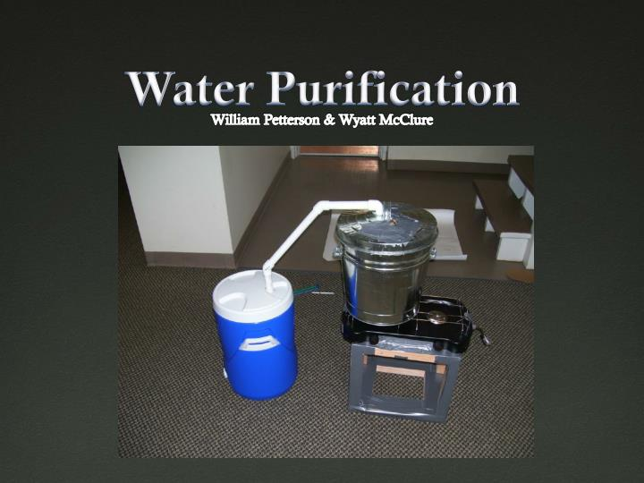 water purification n.