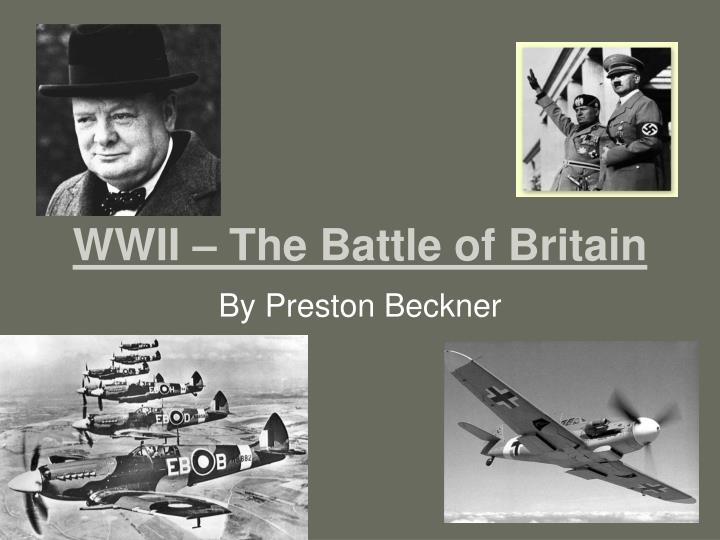 wwii the battle of britain n.