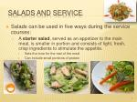 salads and service