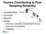 factors contributing to poor sampling reliability