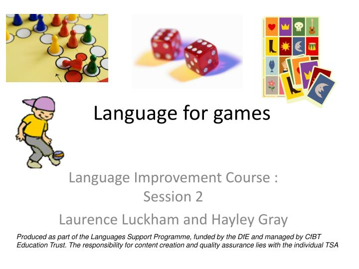 language for games n.