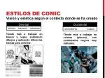 estilos de comic2