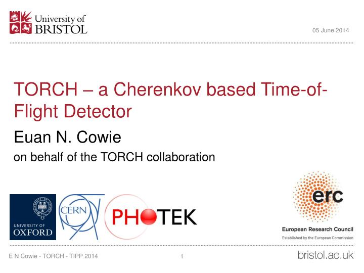 torch a cherenkov based time of flight detector n.