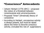 conscience antecedents