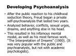 developing psychoanalysis