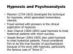 hypnosis and psychoanalysis