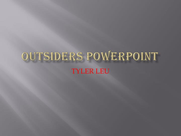 outsiders powerpoint n.