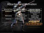 attraction and motivation