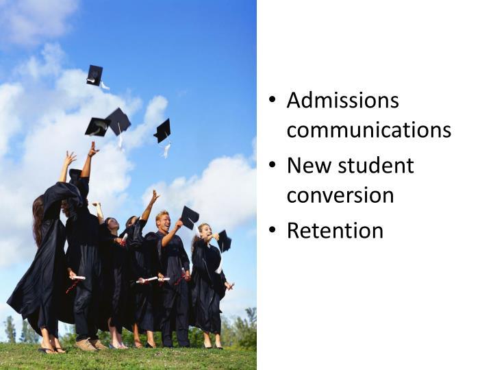 Admissions communications