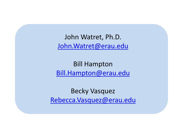 John Watret, Ph.D.