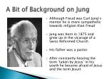 a bit of background on jung