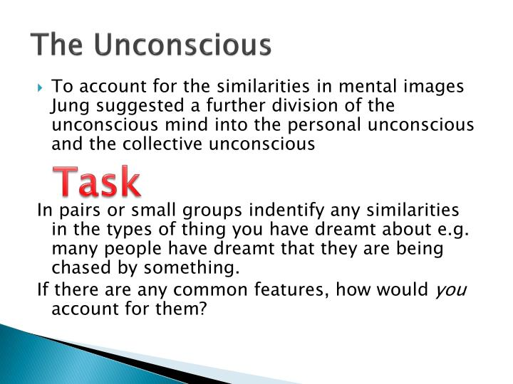unconscious mind 3 essay The repressed kind of unconscious is the third level and is referred to as the unconscious mind (ucs) this part of the psyche deals with unconscious repressed data it is a reservoir of feelings, thoughts, urges.