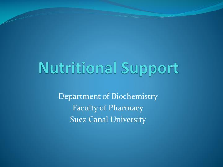 nutritional support n.