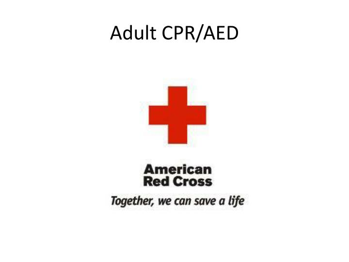 adult cpr aed n.