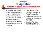 strategies 3 agitation what to do before a behavior escalates