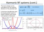 harmonic rf systems cont