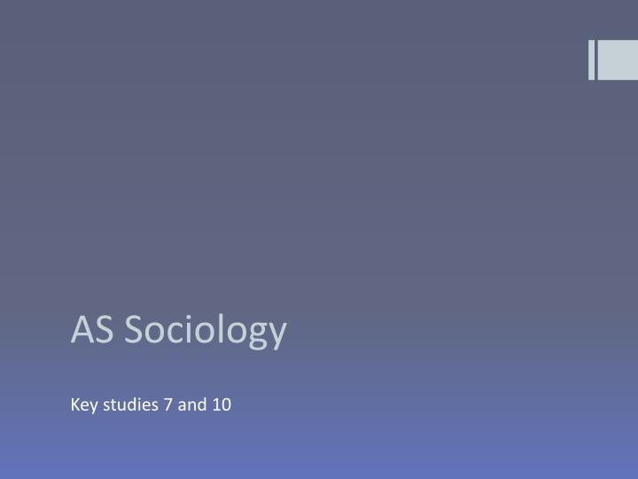 as sociology n.