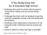 if you really knew me ep 8 columbia high school