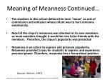 meaning of meanness continued