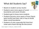 what did students say