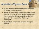 aristotle s physics book 1