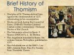 brief history of thomism