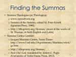 finding the summas