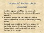 moderate realism about universals