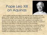 pope leo xiii on aquinas