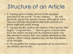 structure of an article