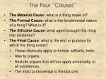 the four causes
