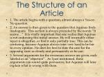 the structure of an article