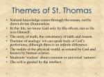 themes of st thomas