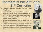 thomism in the 20 th and 21 st centuries